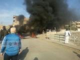 بالصور.. قطع طريق «مصر-أسوان» بالإطارات المشتعلة
