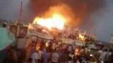 حريق ضخم يلتهم 3 لنشات سياحية في الغردقة